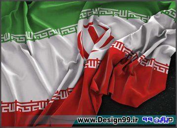 عکس پرچم ایران کیفیت بالا